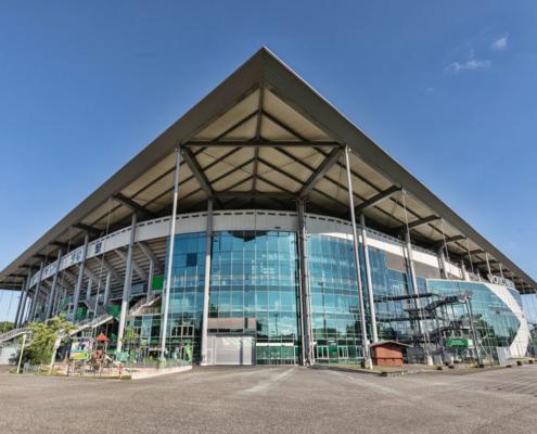 Allerpark Wolfsburg, Vfl-Stadion (Nordwestansicht) | Sándor Kotyrba Architekturfotografie