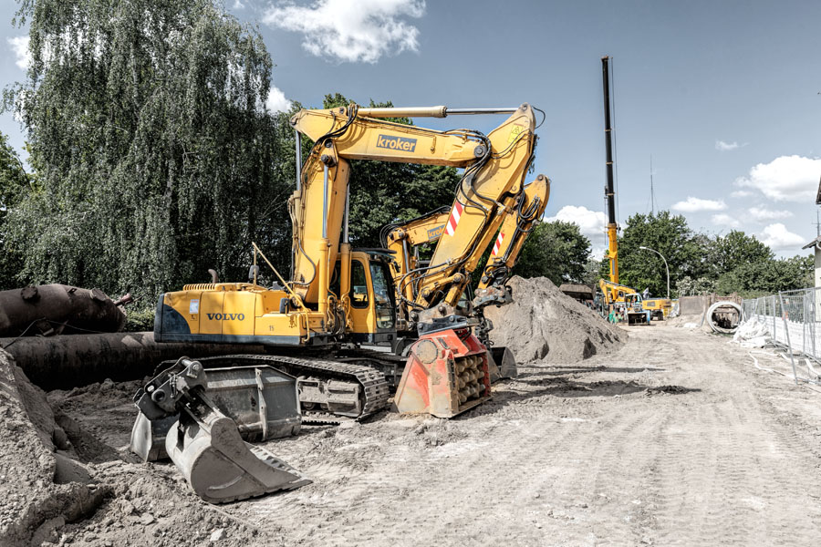 Fotografie Tiefbau-Arbeiten   Max Kroker Bauunternehmungen GmbH (#424A0069)