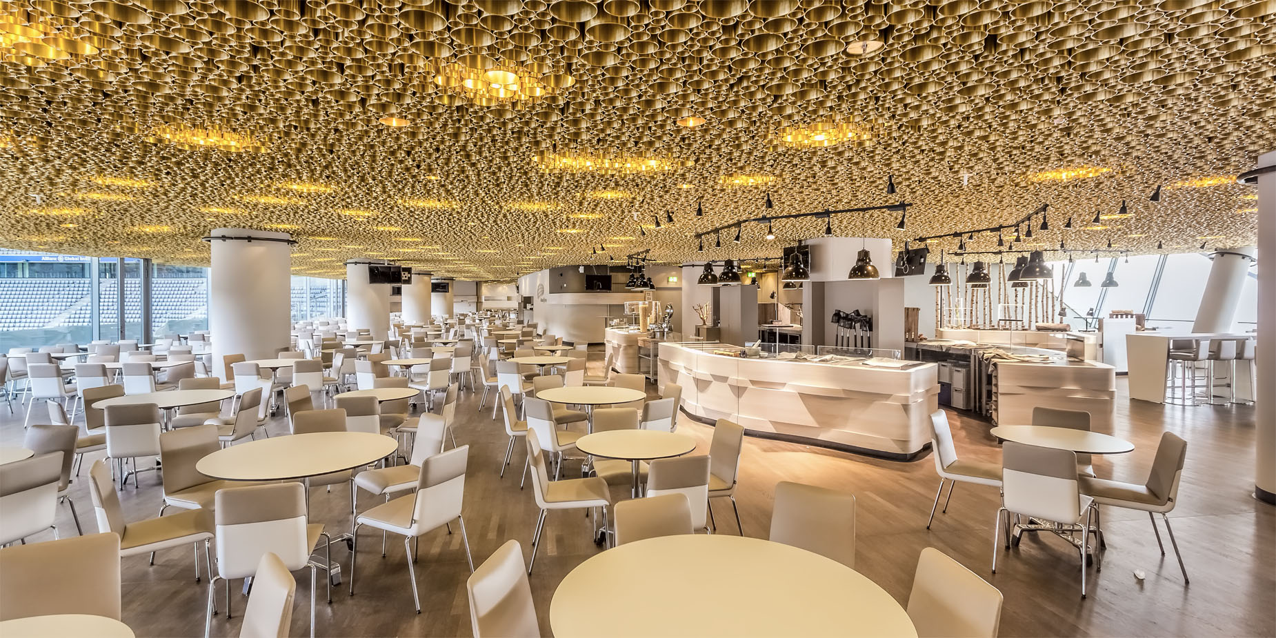 Architekturfotografie München | Allianz Arena, Business Club
